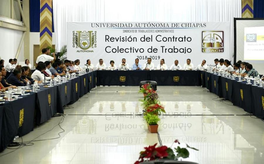 Revisión del Contrato Colectivo de Trabajo con el STAUNACH