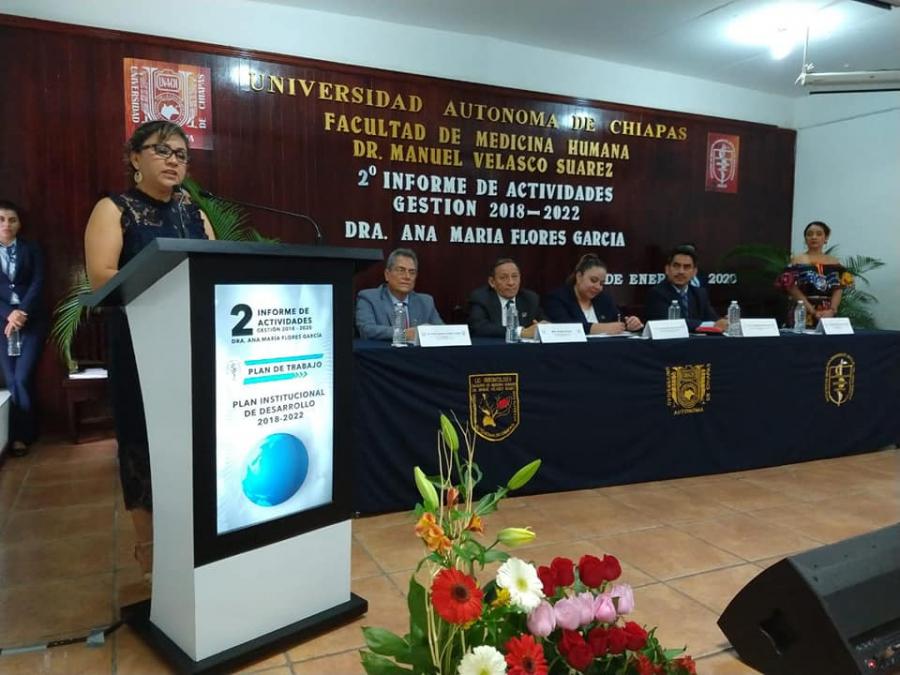 2° Informe de Actividades Dra. Ana María Flores García, Directora de la Facultad de Medicina Humana