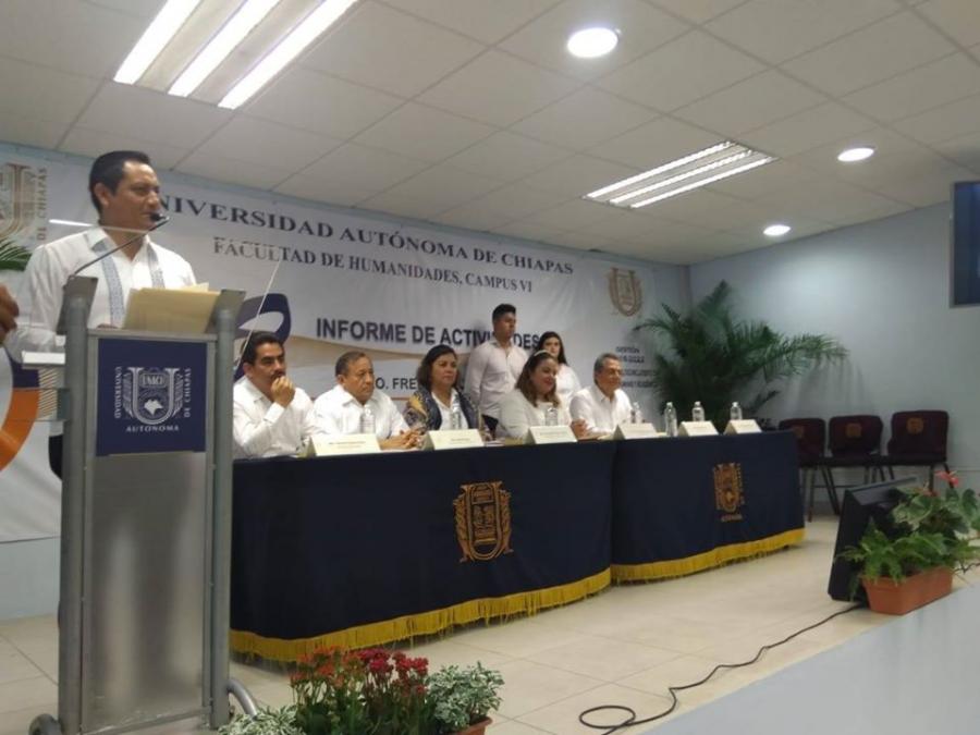 2° Informe de Actividades del Director de la Facultad de Humanidades, Campus VI