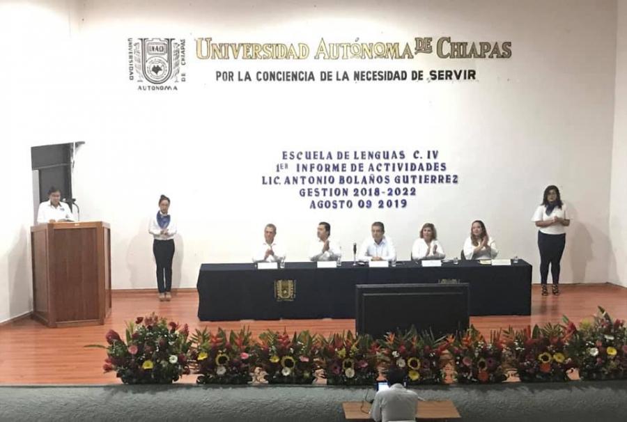Primer Informe de Actividades del Director de la Escuela de Lenguas Tapachula