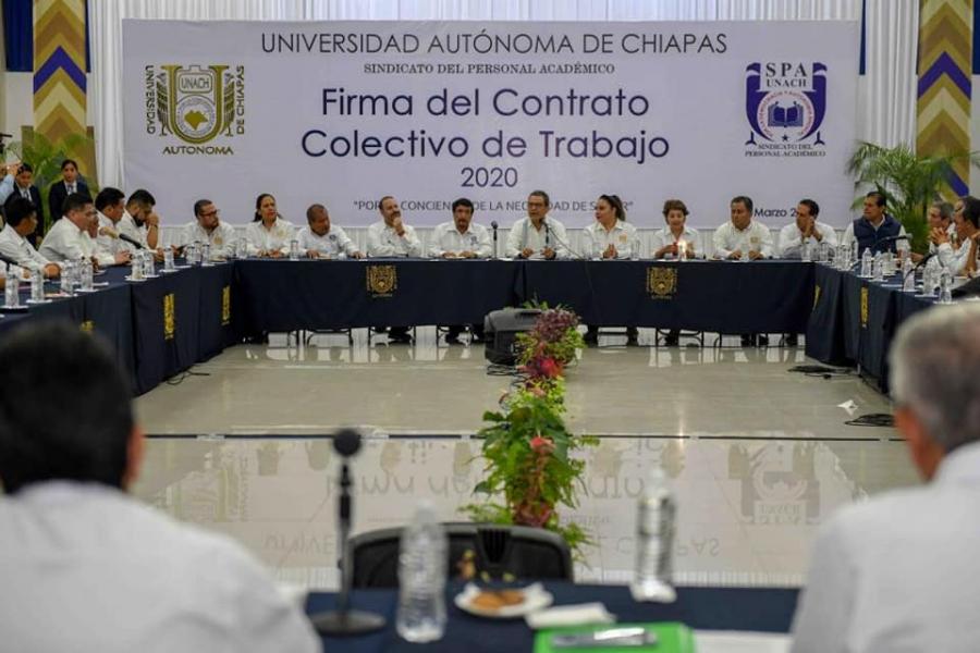 Firma del Contrato Colectivo de Trabajo con el SPAUNACH