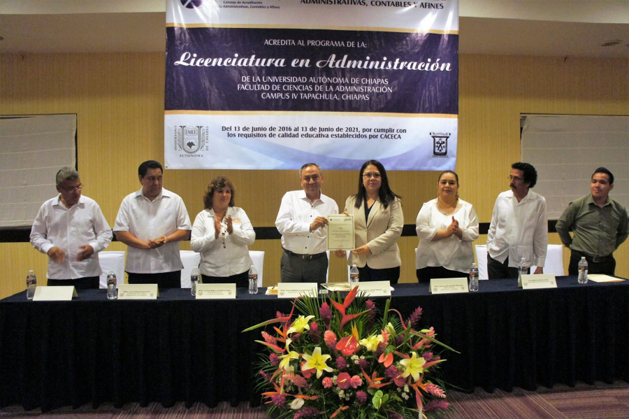 Reconocimiento a la Licenciatura en Administración